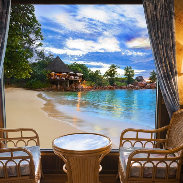 With sea view for two